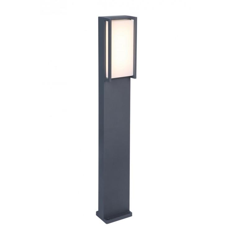 Borne Gris Foncé QUBO, LED Intégrée, 18W, 1100 lumens, 3000K, IP54, 230V, Classe I