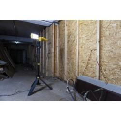 Projecteur Jaune et Noir PERI, LED Intégrée, 35W, 3200 lumens, 5000K, IP54, 230V, Classe II