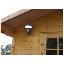 Applique Grise SUNSHINE, LED Intégrée, 3W, 360 lumens, 4000K, IP44, SOLAIRE, Classe III