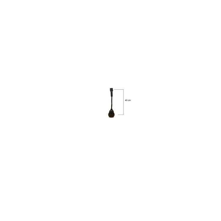SUSPENSION - 1 Douille E27 - Longueur 0,40m   (Vendu sans ampoules)