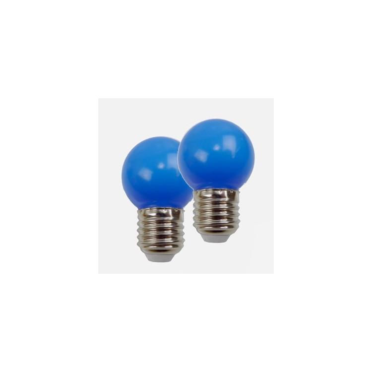 Blister de 2 Ampoules - E27 LED -1W/230V - Bleu