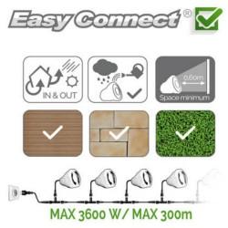 Pierre décorative en résine - GU10 - MR16 - LED 2 W - blanc chaud EASY CONNECT ref 65020