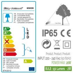 Kit 3 Projecteurs Cailloux résine - MR16 - LED 2W - blanc chaud EASY CONNECT