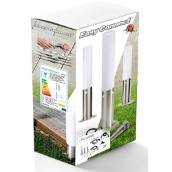 Kit 3 Mini Balise Inox à piquer -LED 5W - H. 45 cm