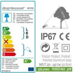 Kit 3 Projecteurs Alu NOIR - IP67 - MR20 - LED 4W - Warm