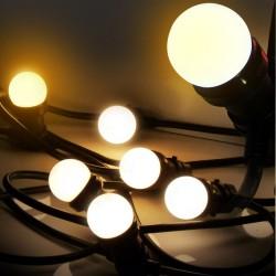 "Guirlande FESTIVE ""Classic"" 5 m - 8 Ampoules E27/LED 1W - 230V - Ball WARM"