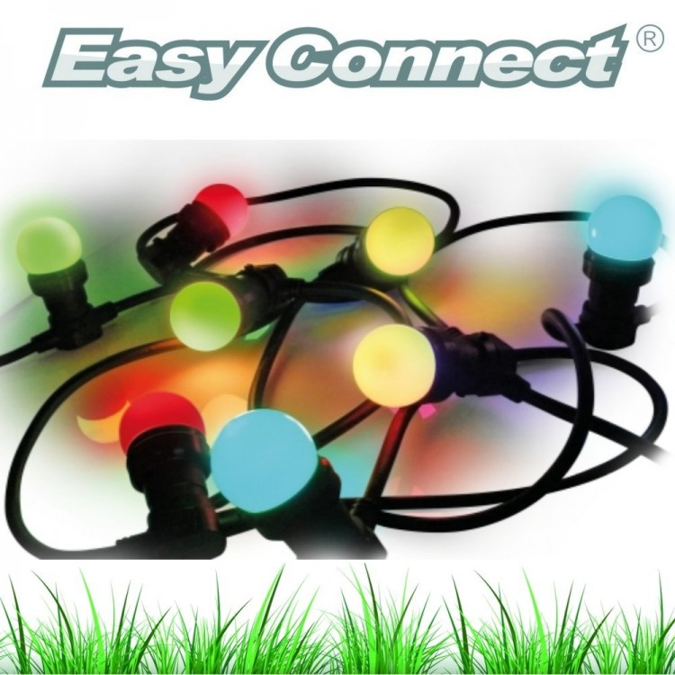"Guirlande FESTIVE ""Classic"" 5 m - 8 Ampoules E27/LED 1W - 230V - Ball COLOR"