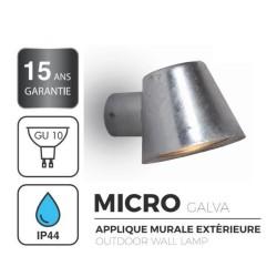 Applique Extérieure MICRO - Descendante - Métal Galvanisé - Ampoule 1xGU10 Maxi 35W - IP44 CLI 230V