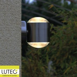 Applique Acier Brossé CRYSTAL, LED Intégrée, 10W, 660 lumens, 3000K, IP44, 230V, Classe I