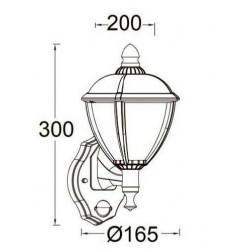 Applique détecteur Blanc Mat en fonte d'Aluminium, UNITE, LED Intégrée, 9W, 330 lumens, 3000K, IP44 LUTEC