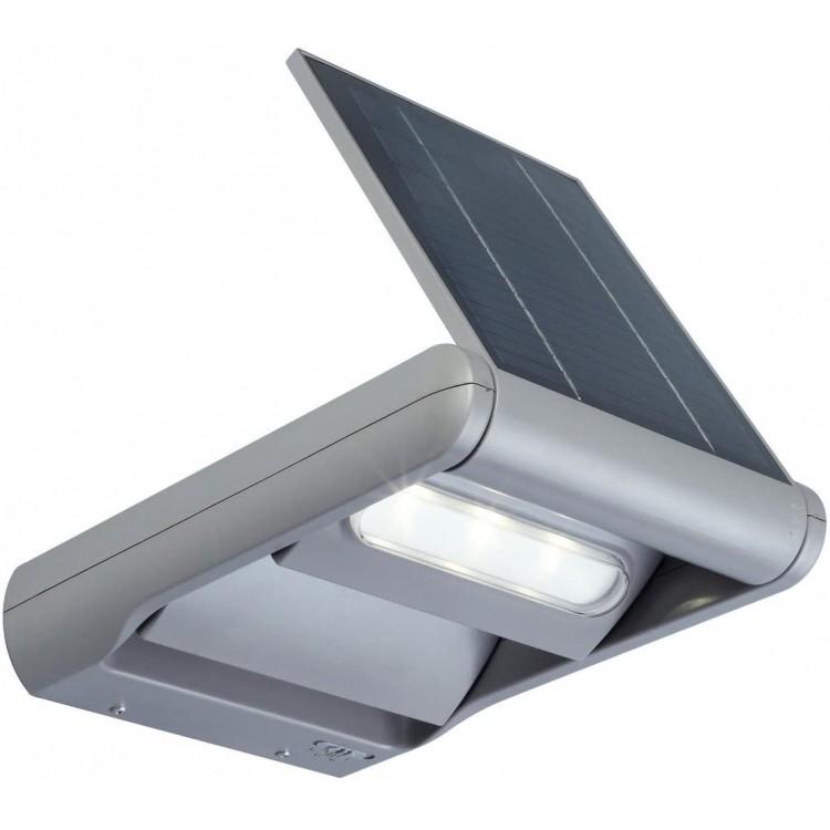 Mini Ledspot Solar, Métal, Intégré, 2 W, Gris Lutec